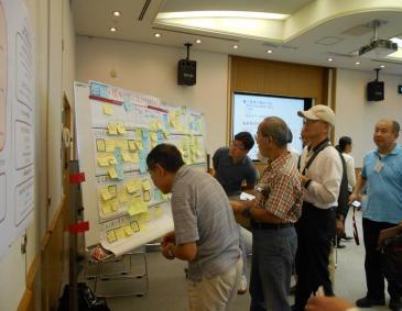 Estado de una sesión de la sesión de información y el taller del medio plan de la Aoba Pupilo pueblo desarrollo pauta revisión