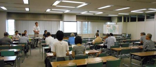 El estado de la sesión de la sesión de información sobre el proyecto de la Aoba Pupilo pueblo desarrollo pauta revisión