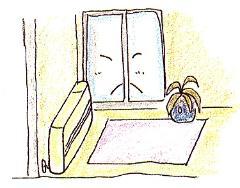 Imagen de la estufa de tipo de apertura