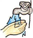 Imagen para lavar bien la mano