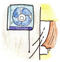 La imagen que abro un entusiasta de ventilación y una ventana y ventilo