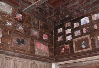 荏田真福寺的奉獻繪馬以及奉獻數額總括
