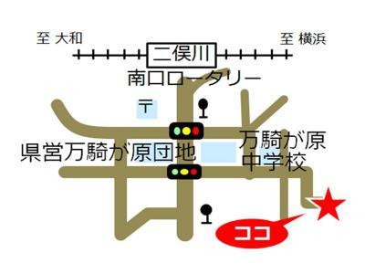 Makigahara comunidad cuidado plaza mapa