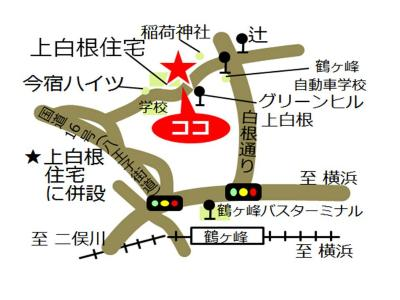 Kamishirane, Yokohama-shi comunidad cuidado plaza mapa