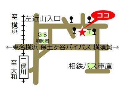 Sakonyama, Yokohama-shi comunidad cuidado plaza mapa
