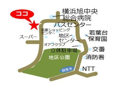 Wakabadai, Yokohama-shi comunidad cuidado plaza mapa
