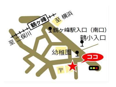 Tsurugamine, Yokohama-shi comunidad cuidado plaza mapa