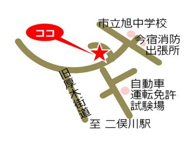 Imajuku, Yokohama-shi comunidad cuidado plaza mapa