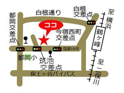 Imajuku, Yokohama-shi el mapa de plaza de cuidado de comunidad occidental