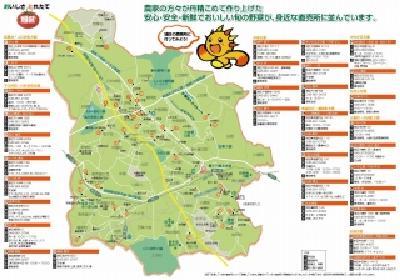 Figura de mapa de productos de granja