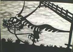 "Picture of folktale ""dragon of Fudo Shirane"""