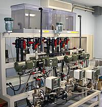 Examination of water apparatus