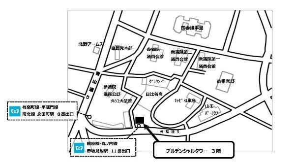 Guide map to Tokyo office