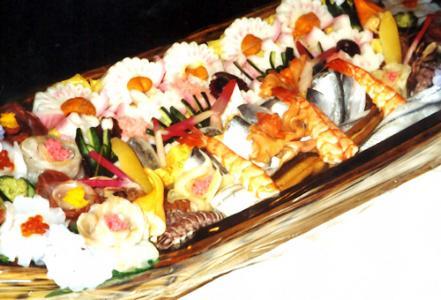 Sushi dishes of Masamichi Nakamaru Meister
