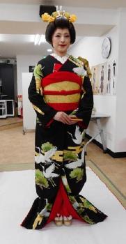 中田眞智子我的明星的日式服装新娘完成的样子