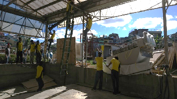 Image that dewatering device in Baguio City looks fixed