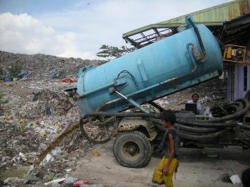 Image of state of sludge abandonment in Cebu City