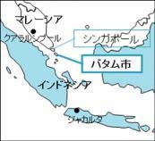 바탐 위치 지도