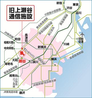 구상 세야 통신 시설의 광역 지도.