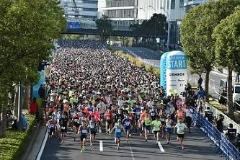 We want to support Yokohama marathon!