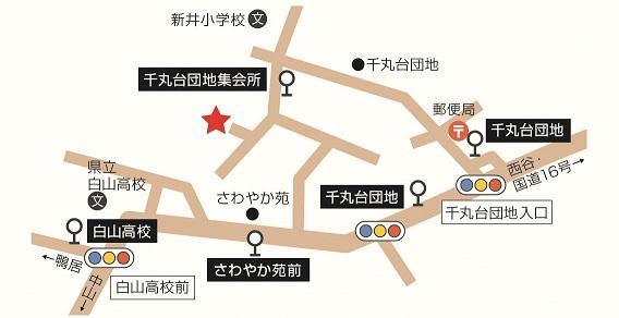 上菅田地區關懷廣場周邊地圖