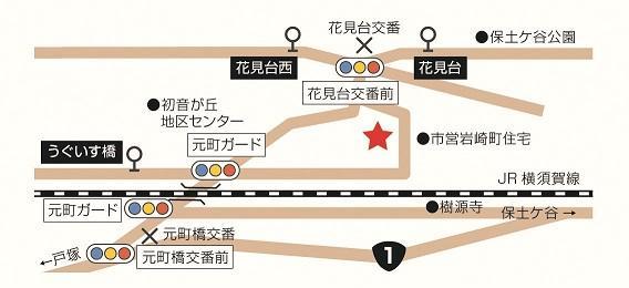 岩崎地區關懷廣場周邊地圖
