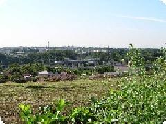 니시타니쵸 주변의 밭과 신칸센의 사진