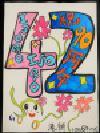 Trabajo de número de la cuenta atrás 42 Takigashira la Escuela Elemental