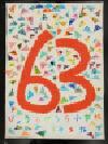 Trabajo del número de la cuenta atrás 63 Byobugaura la Escuela Elemental