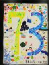 Trabajo del número de la cuenta atrás 73 Yokodai-Daiichi la Escuela Elemental