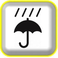 Ilustración de la tormenta e información de daño de diluvio