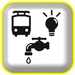 Ilustración de la información de las línea vital, provisión de agua, electricidad y gas (Life line)