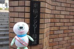 Entrada y tortuga Taro del Toyoko florecen el parque de la ciudad