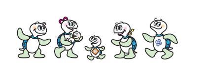 Kanagawa Ward la tortuga de carácter de mascota Taro
