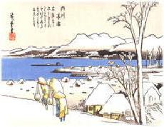 Image of evening snow scene of Uchikawa