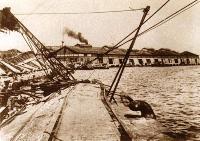 作為關東大地震受災狀況的照片(新港碼頭3號.4號碼頭)