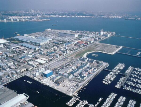 橫濱海濱小船塢地區廣角鏡頭