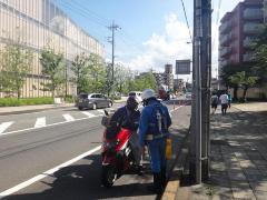 Prevención de campaña de accidente de tráfico de vehículo dos-de ruedas