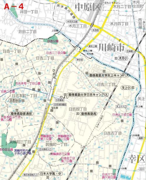 Kohoku Ward el mapa del parque UN-4