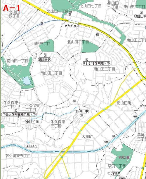 Kohoku Ward el mapa del parque UN-1