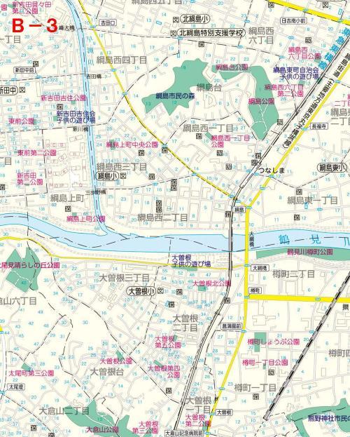 Kohoku Ward el mapa del parque B-3