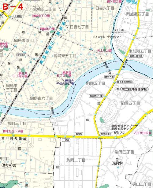 Kohoku Ward el mapa del parque B-4