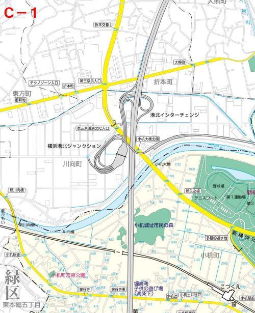 Kohoku Ward el mapa del parque C-1