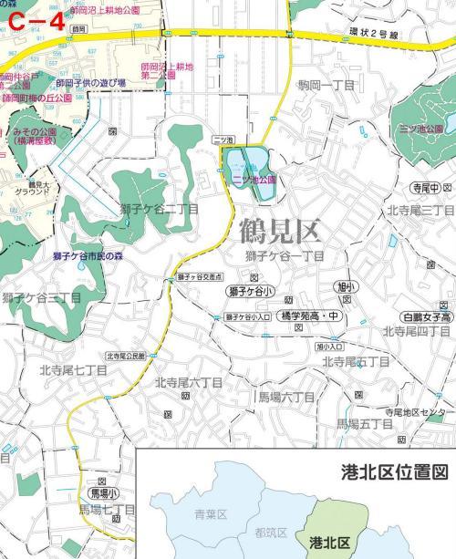 Kohoku Ward el mapa del parque C-4
