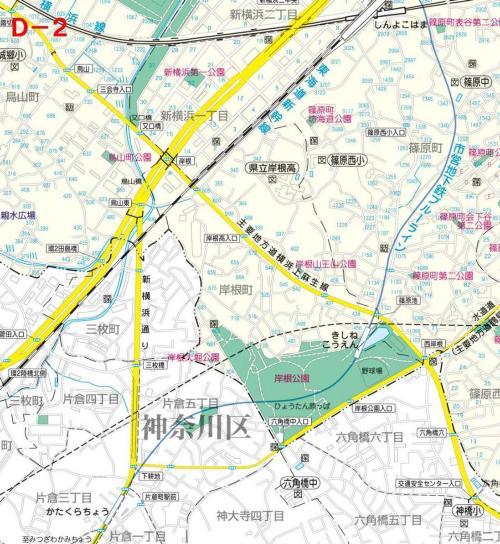Kohoku Ward el mapa del parque D-2