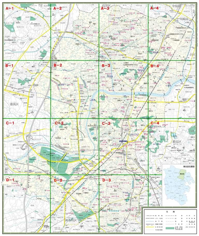 El Kohoku Pupilo parque mapa entero