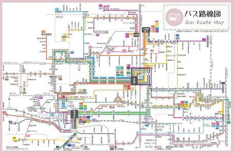 Imagen del mapa de ruta de autobús