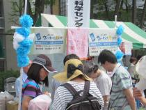 Photograph of Yokohama walking point pedometer application stamp event