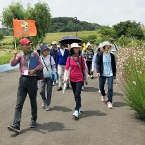 Kohoku that asks for ho! Photograph of healthy walking