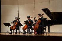 Photograph of Kohoku art festival cello ensemble